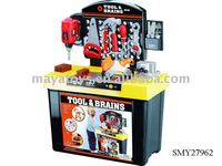 Toy Mechanic Tool Box Set,Tool And Brains Toys,Plastic Mini Toy Tools