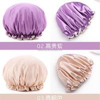Fabric Shower Cap satin hair wash cap for women girl