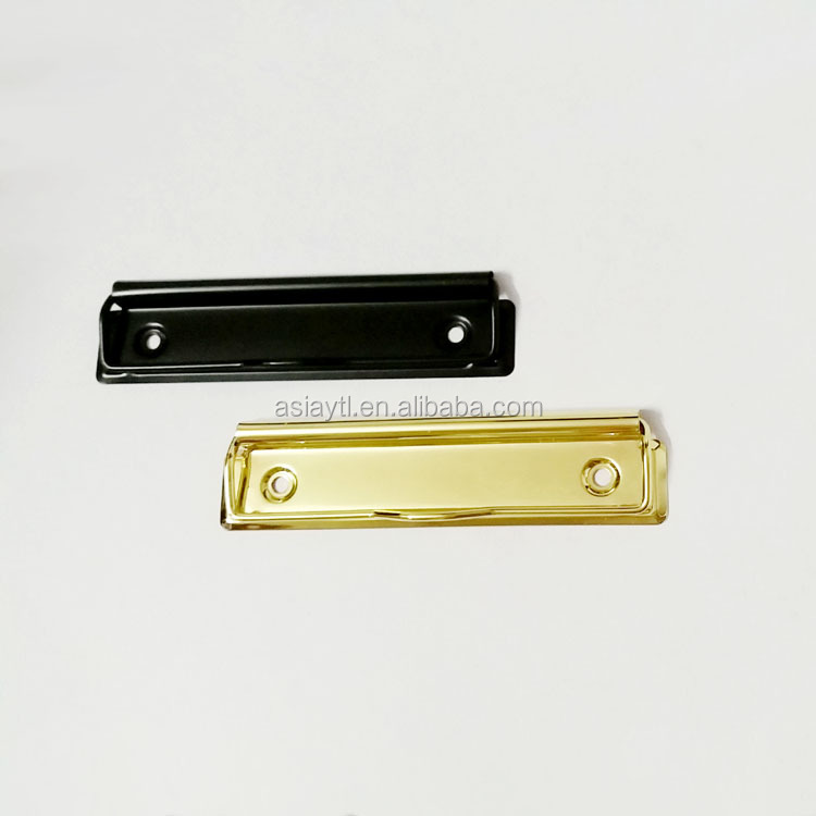 matte black and gold metal office stationery clip 120mm