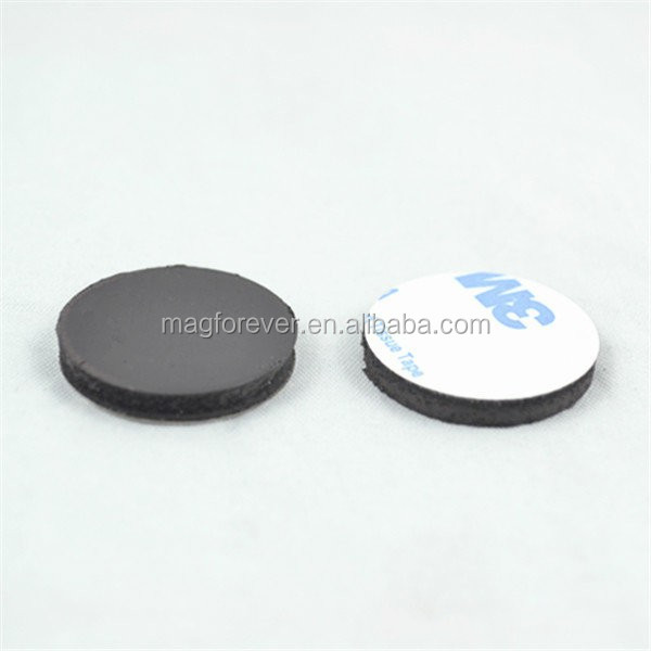 Flexible 3M coated adhesive Ring Rubber magnet