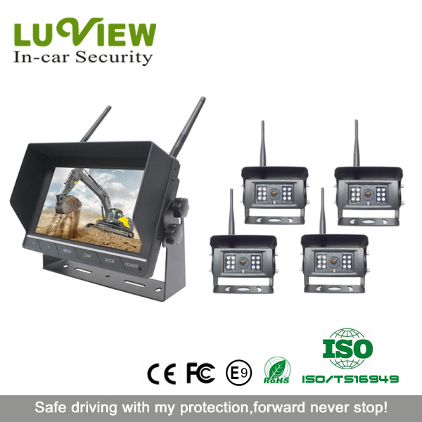 24V wireless hd ccd camera for vehicle/bus/ reverse camera system