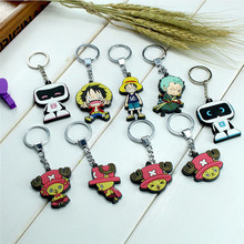 favorite cartoon character shaped soft pvc rubber custom made keychain for advertising