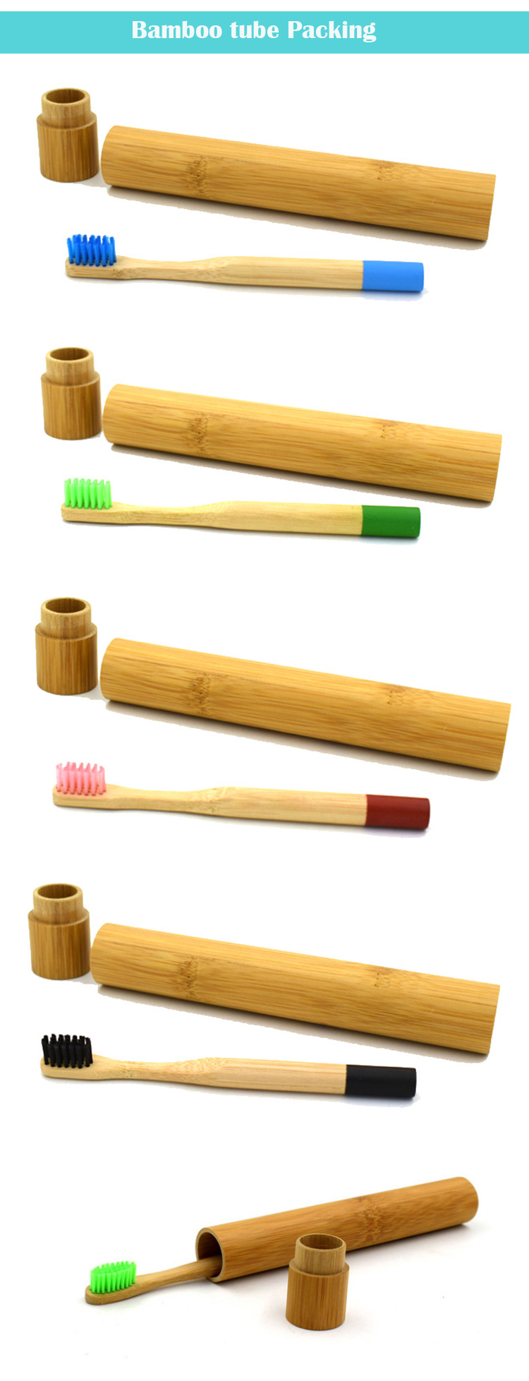 High grade Color painting 100% biodegradable bamboo toothbrush kids