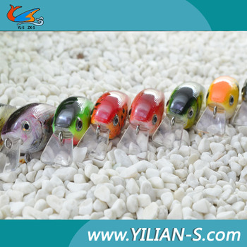 Fishing lure swim crank bait with 3D lure eyes