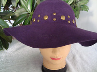 hot sell wool felt large brim fedora , Floppy wide brim lady hat