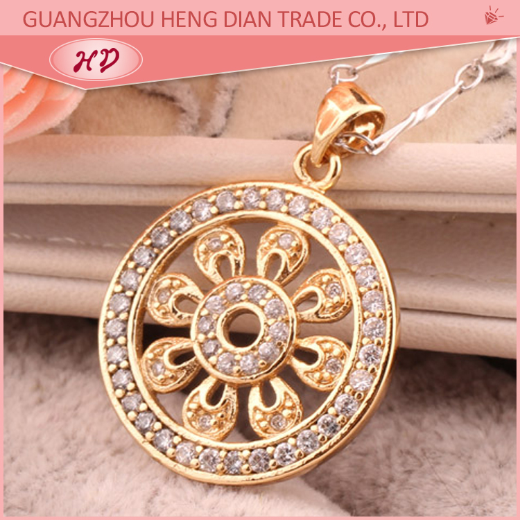 Cheap price factory direct supplier fashion 18 carat gold pendant