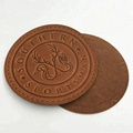Customized Fashion Design Sew on Embossed Brand Name Logo Genuine Leather Jeans Patches Labels
