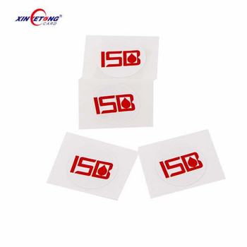High quality ISO14443A 13.56MHz printable paper programmable rfid nfc tag sticker label