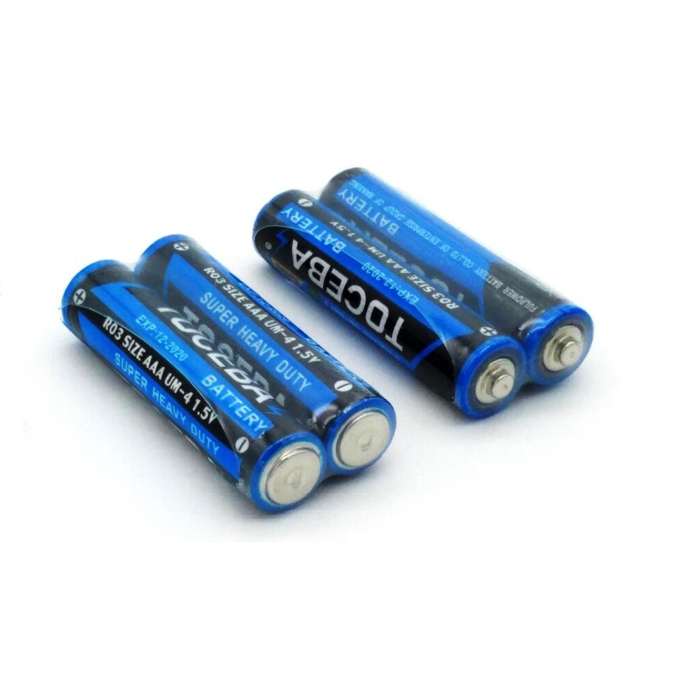 2 PACK BATTERY R03 AAA UM4 PVC 1.5V Dry Battery