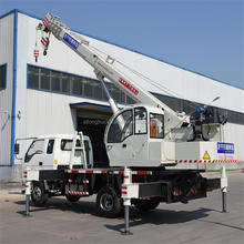 LUYING Brand construction mini hoisting crane mounted on truck with 8ton capacity and 26m height