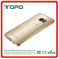 Anti-Scratch Multicolor Transparent TPU Back Cover With Soft Electroplate Phone Case TPU Mobile Case for samsung galaxy s7 edge