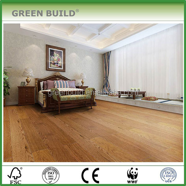 Wear-resistant Hand scraped Golden <strong>Oak</strong> Engineered Wood Flooring