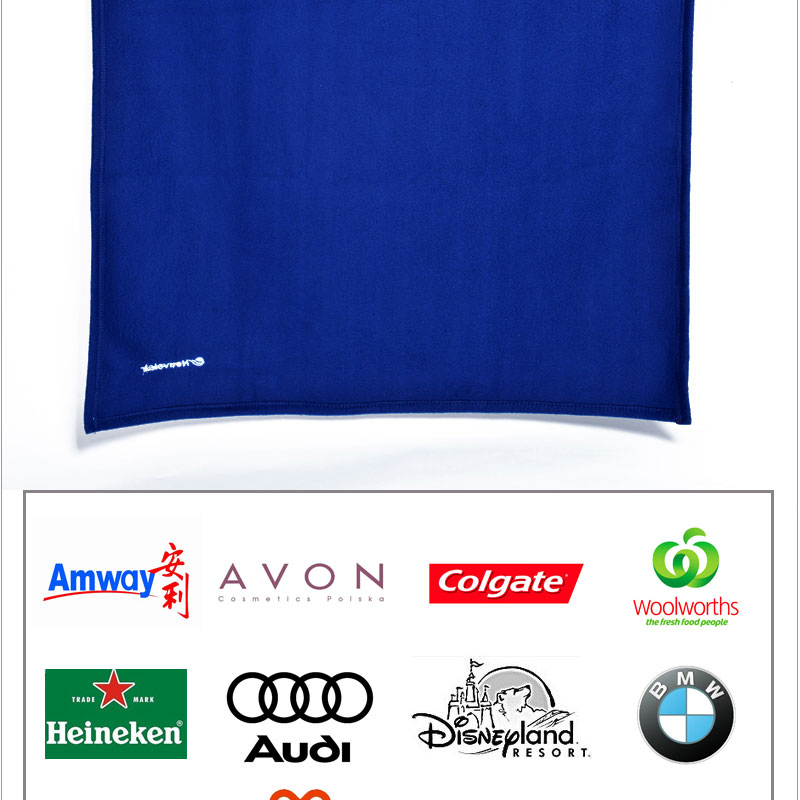 100%polyester super soft colorful plain airline polar fleece blanket