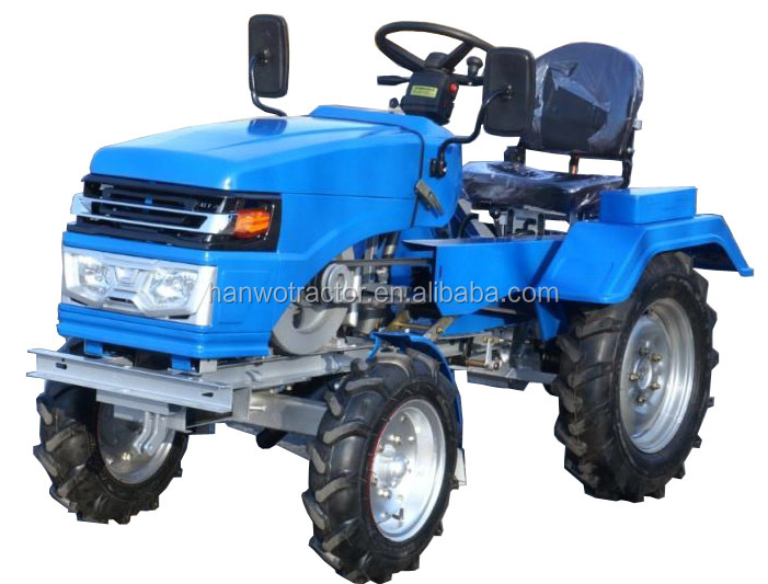 2015 hot sale 12hp 15hp cheap multi-purpose mini tractor with implements rotary tiller plough trailer mower potato harvester