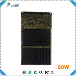 Shenzhen waterproof fabric folding portable solar panel for phone
