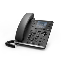 Newest voip product 6 line SIP video phone wifi dest ip phone for call center