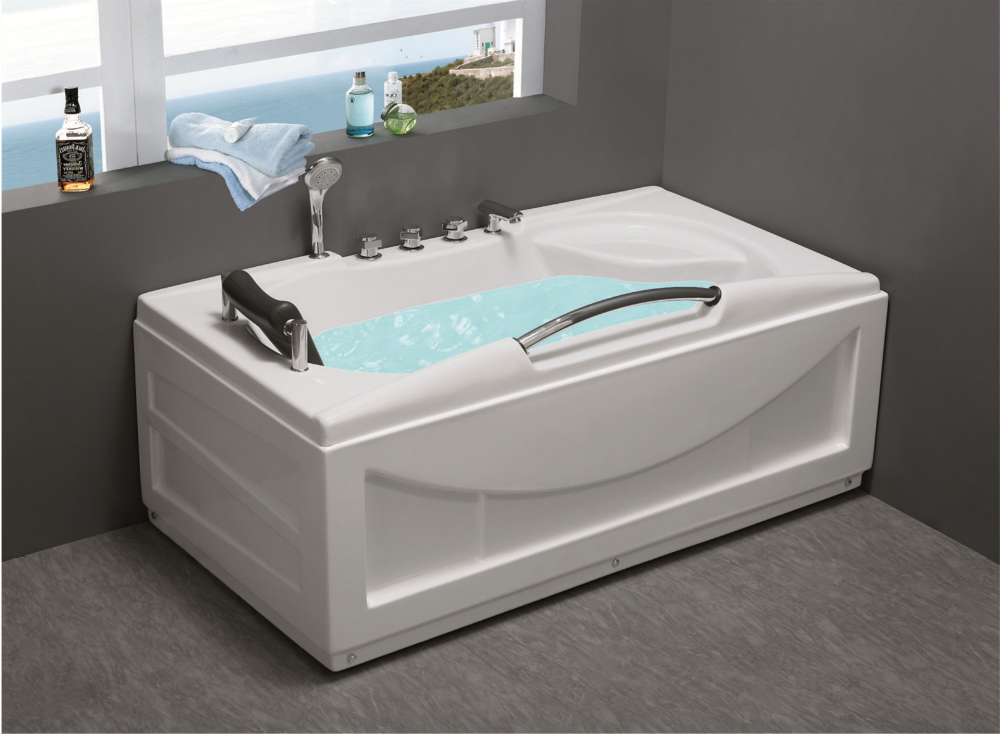 rectangular shape corner ABS whirlpool massage bathtub