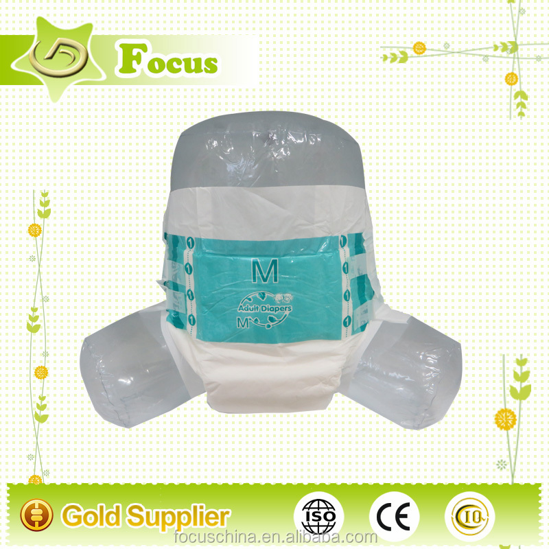 Disposable Adult Baby Diaper stock adult nappy for low end market