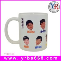 11 oz Wholesale Sublimation White Ceramic Mug with Human Face Image for Gifts
