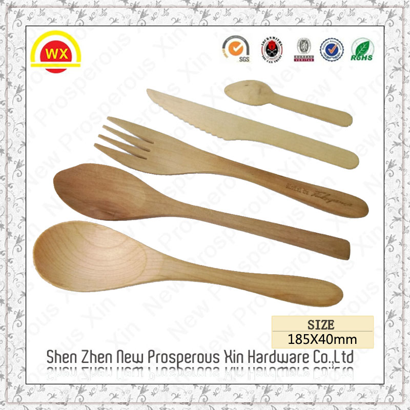 Wholesale custom good grip carved rubber spoon wood
