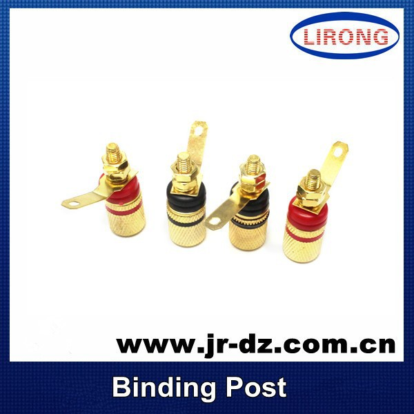 Good Quality Amplifier Speaker Terminal Binding Post For Banana Plug 4mm Jack Gold Plated