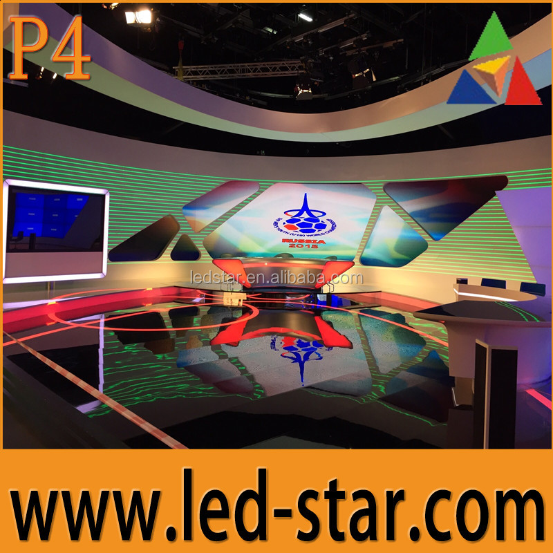 Hot Star Indoor P4 led advertising video wall on sale