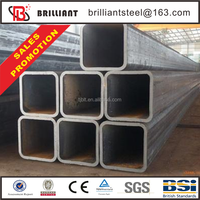 Tianjin square rectangular pipe ! tapered steel pipe high quality s235/s275/s355 square tube/shs