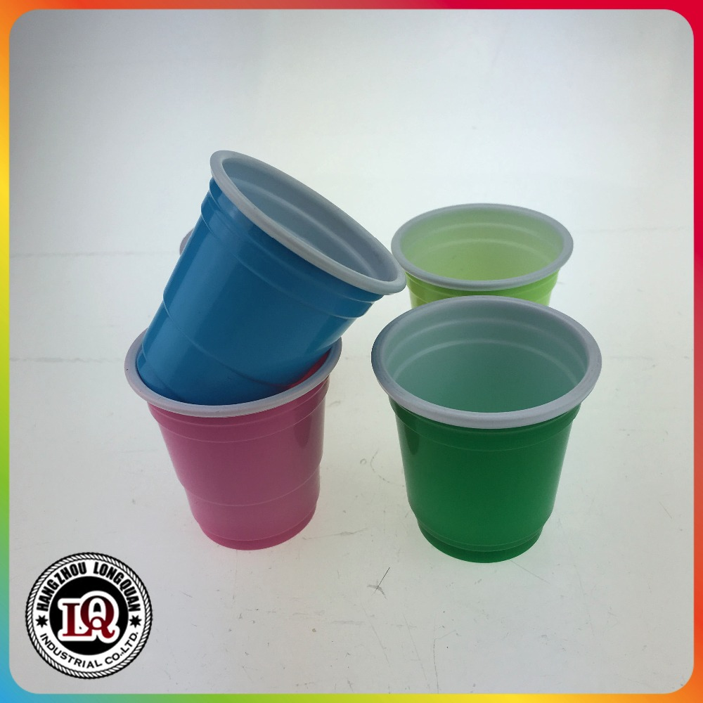 Disposable 2oz colored Plastic red Cup