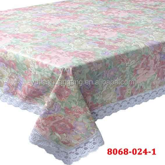 embossing pvc lace tablecloth