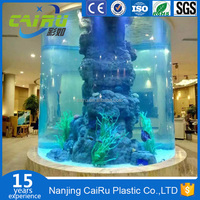 China Professional Custom Large Round Acrylic Aquarium