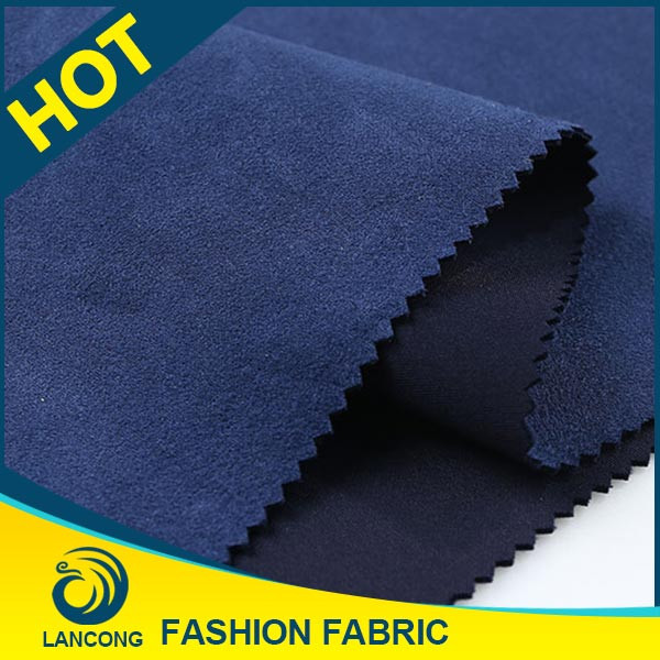2015 New arrival Garment use Spandex suede korea fabric