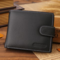 JINBAOLAI Genuine leather wallet with coin pocket