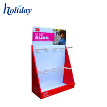 Paper Cardboard Jewelry Display Stand With Hooks,Portable Jewelry Display Showcase