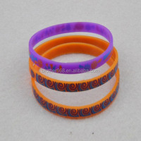 imprint multi-color silicone wristband bracelet,decorative silicone thin braceelet