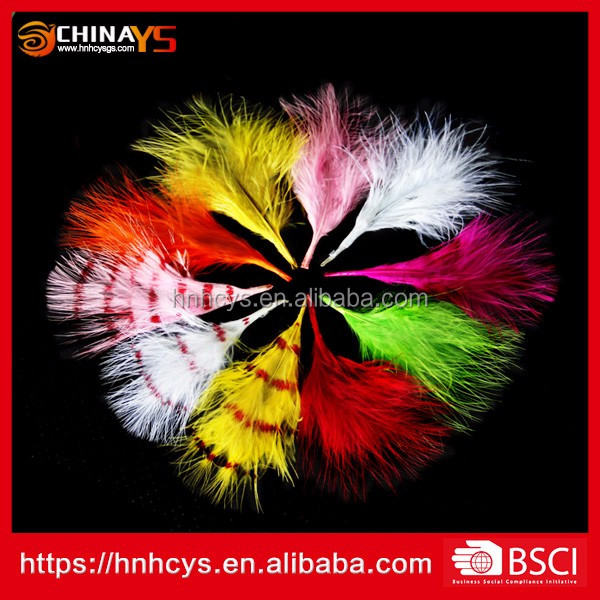 Best quality new arrival Stenciled Blood Quill Marabou 4-6inch Dye Turkey Feathers on promotion