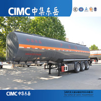 CIMC Petroleum Tanker 60 Ton Fuel Tank Semi Trailer With High Quality