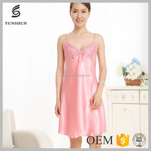 Wholesale Price Girl Sex Babydoll silk mature women sexy nightgown