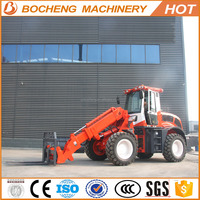 Top quality comfortable safe China suppliers 4500mm dumping height 115 hp telescopic boom loader with price for sale