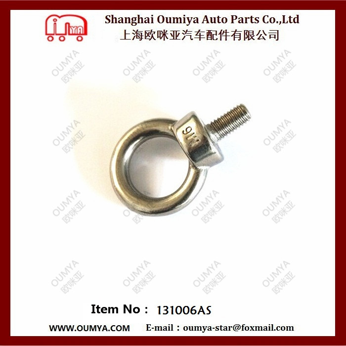stainless Steel Heavy Duty Deck Reccessed Round Rope Ring for Truck Van Body Part 131006AS