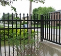 cheap wrought iron fence / security backyard metal steel picket fence