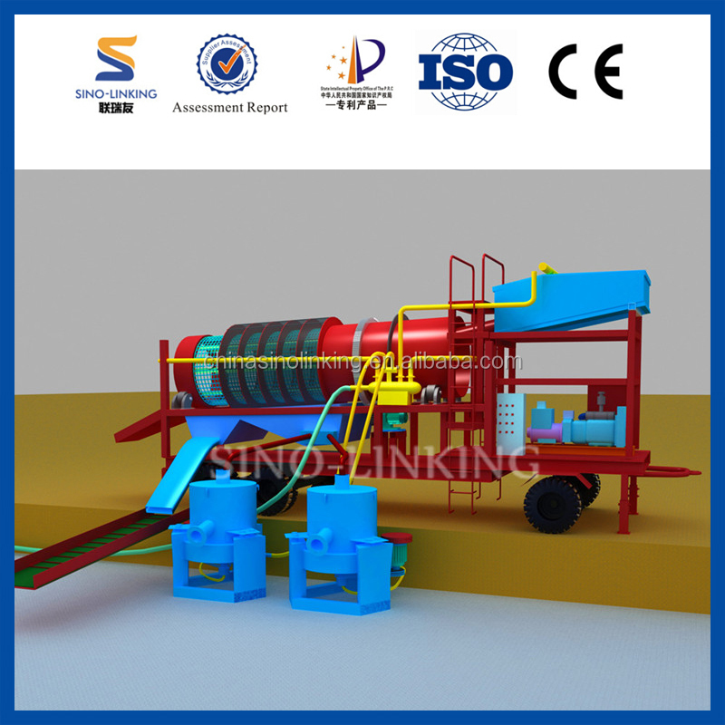 SINOLINKING Vibrating Table Gold Separator Machine with Sluice Grass Mat