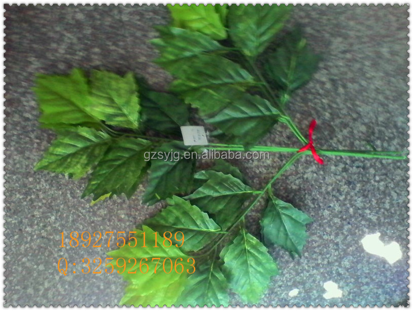 artificial green leaf / fake leaves / artificial leaf for fake tree decoration