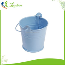Garden gift colorful small metal buckets with ring hoop