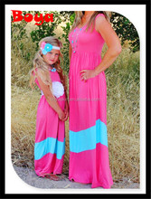 2015 hot sale kids clothesMommy and me maxi dress mother and daughter dress design kids clothing wholesale girls birthday dress