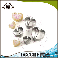 Stainless Steel Loving Heart Shaped Vegetables and Fruit Cutter, Cookie Cutter, Baking Molds