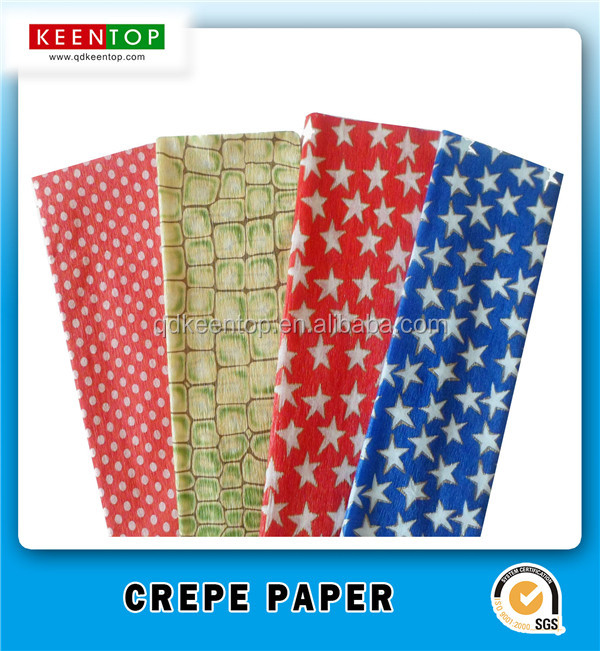 flower handmade craft gift wrapping printed crepe <strong>paper</strong>