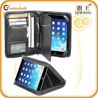 Promotional Black PU Leather Slim Case Cover Stand Portfolio Case for ipad mini