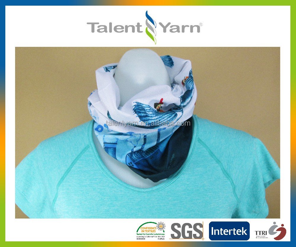 Functional tube head scarf for sports and outdoor