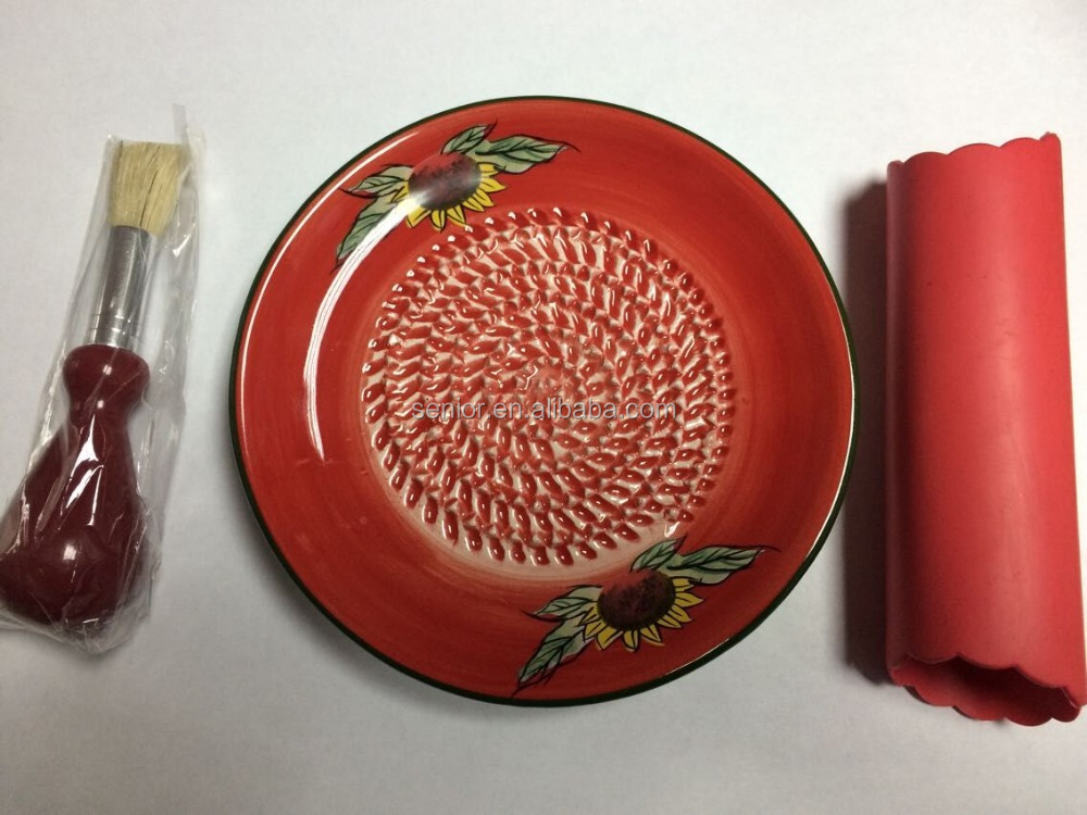 New Ceramic grater plate ceramic garlic grater plates