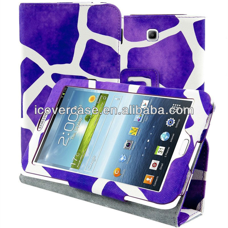 Smart case cover For Samsung GALAXY Tab 3 P3200,new design Leopard stand case for Tab 3 P3200